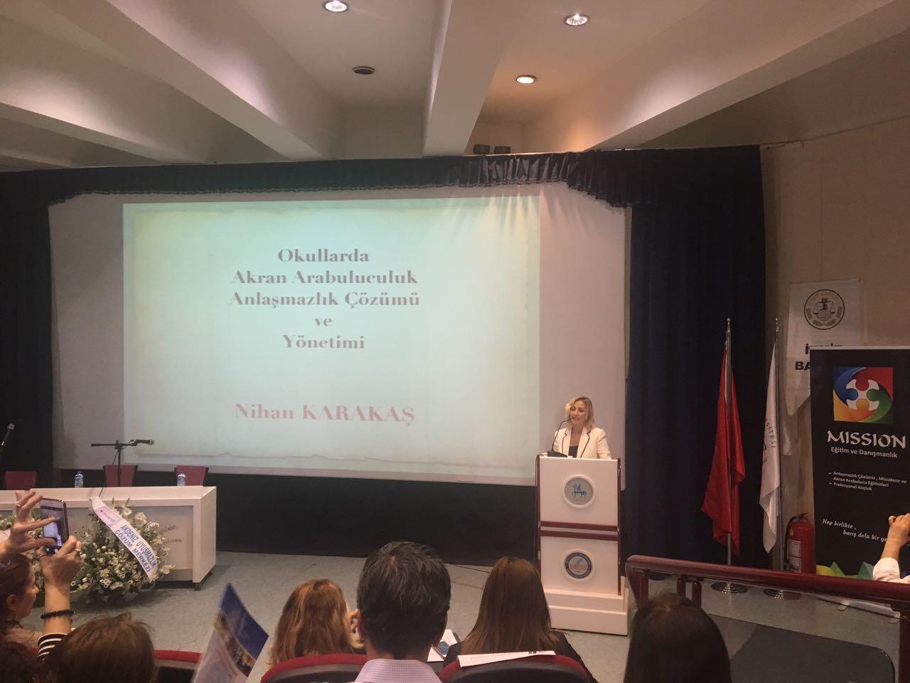 I. Toplumsal Uzlaşı Kongresinde Akran Arabuluculuk Konusunda Sunulan Bildiri İlgiyle Dinlendi